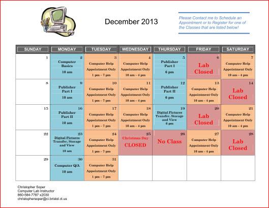 December Classes