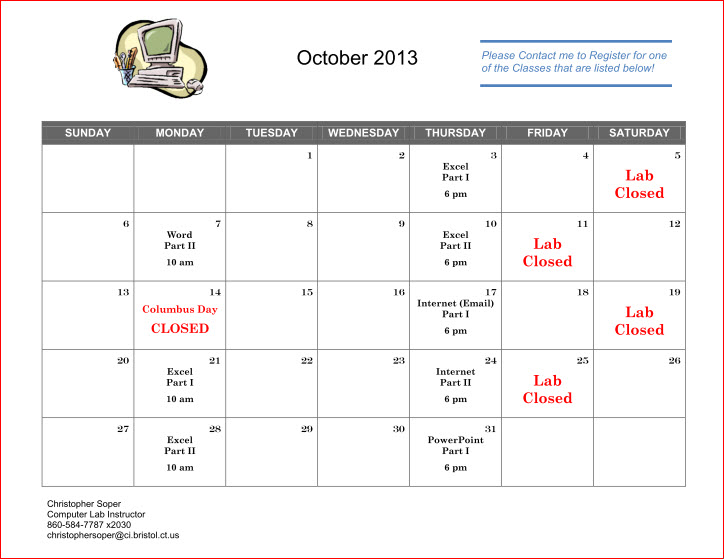 October Classes