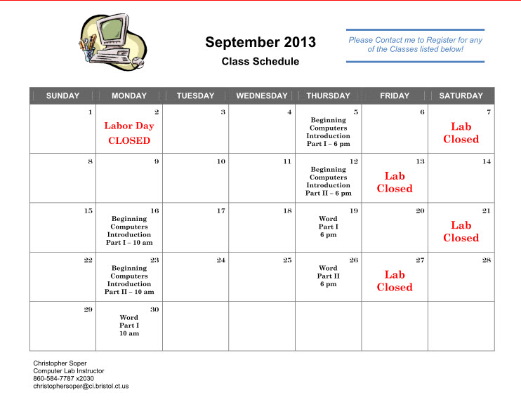 September Classes