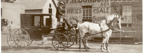 an old horse and carriage