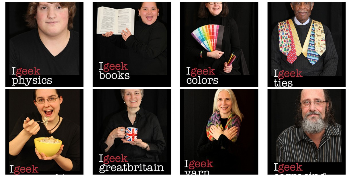 geek the library poster mosaic
