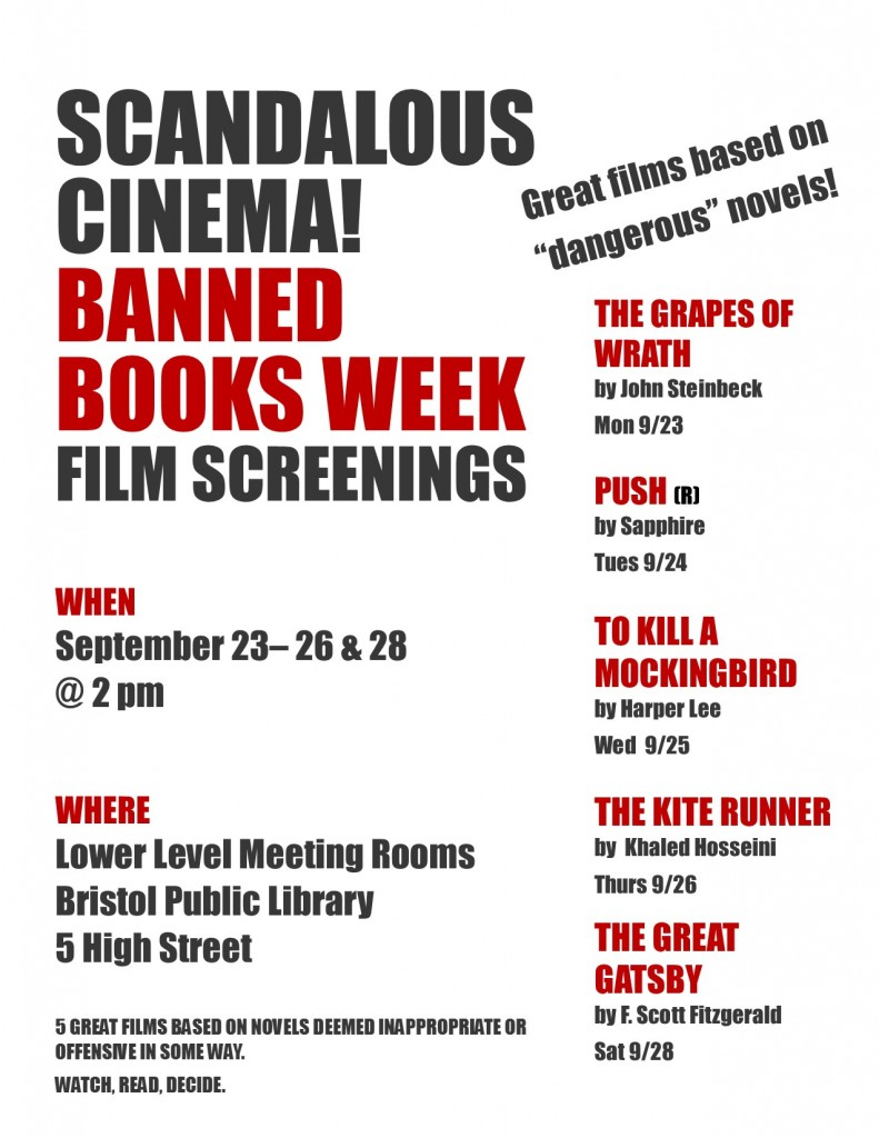 Scandalous Cinema! Banned Books Week Film Screenings