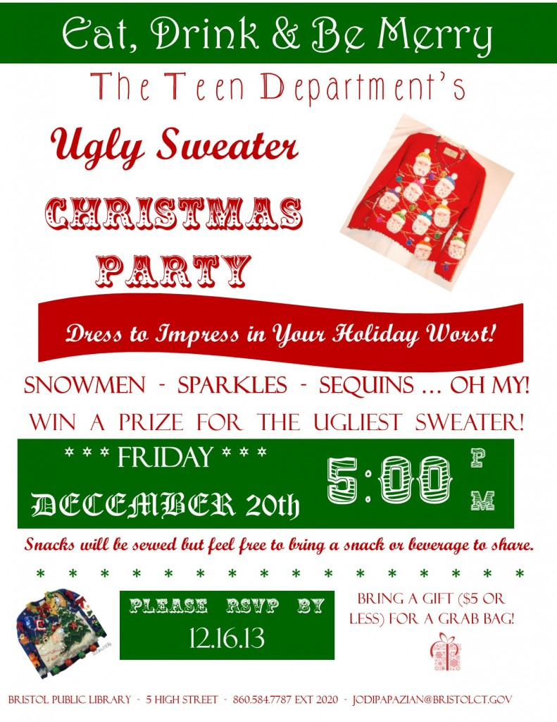 Ugly Christmas Sweater Party 12.20.13