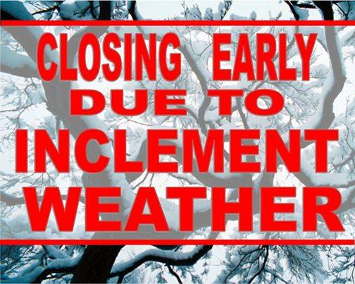 closing early winter weather