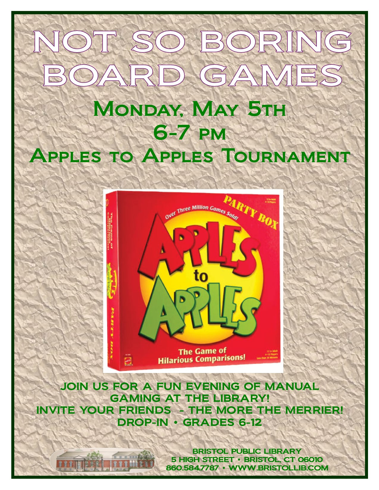 Apples to Apples 5.5.14