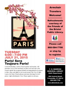 Poster of Paris! Sera Toujours Paris! 7/21/2015 library program