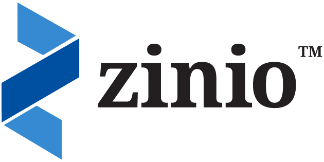 Logo for Zinio,  a multi-platform distribution service for digital magazines