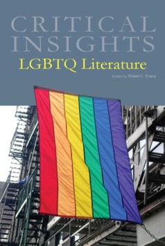 Salem Press Critical Insights LGBTQ Literature cover art with rainbow flag