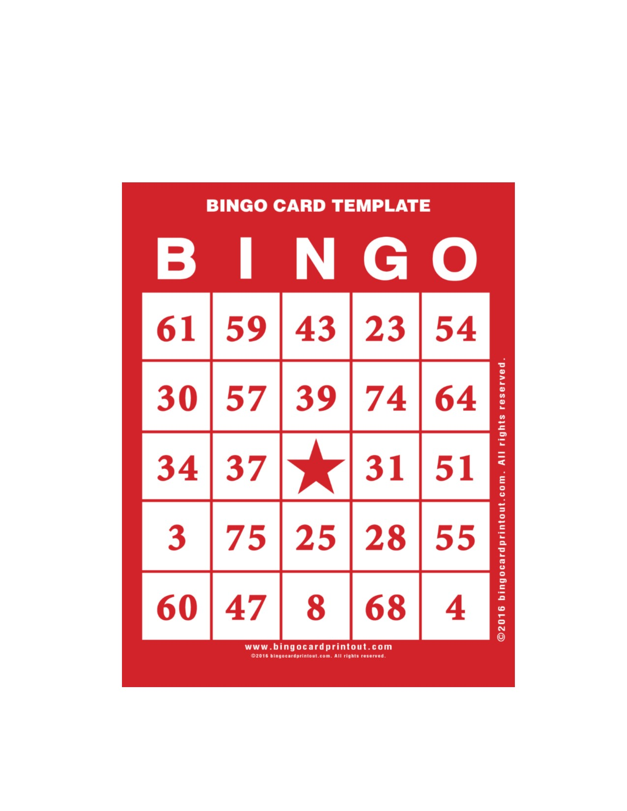 Bingo Card Template | Bingo Card Template Bristol Public Library