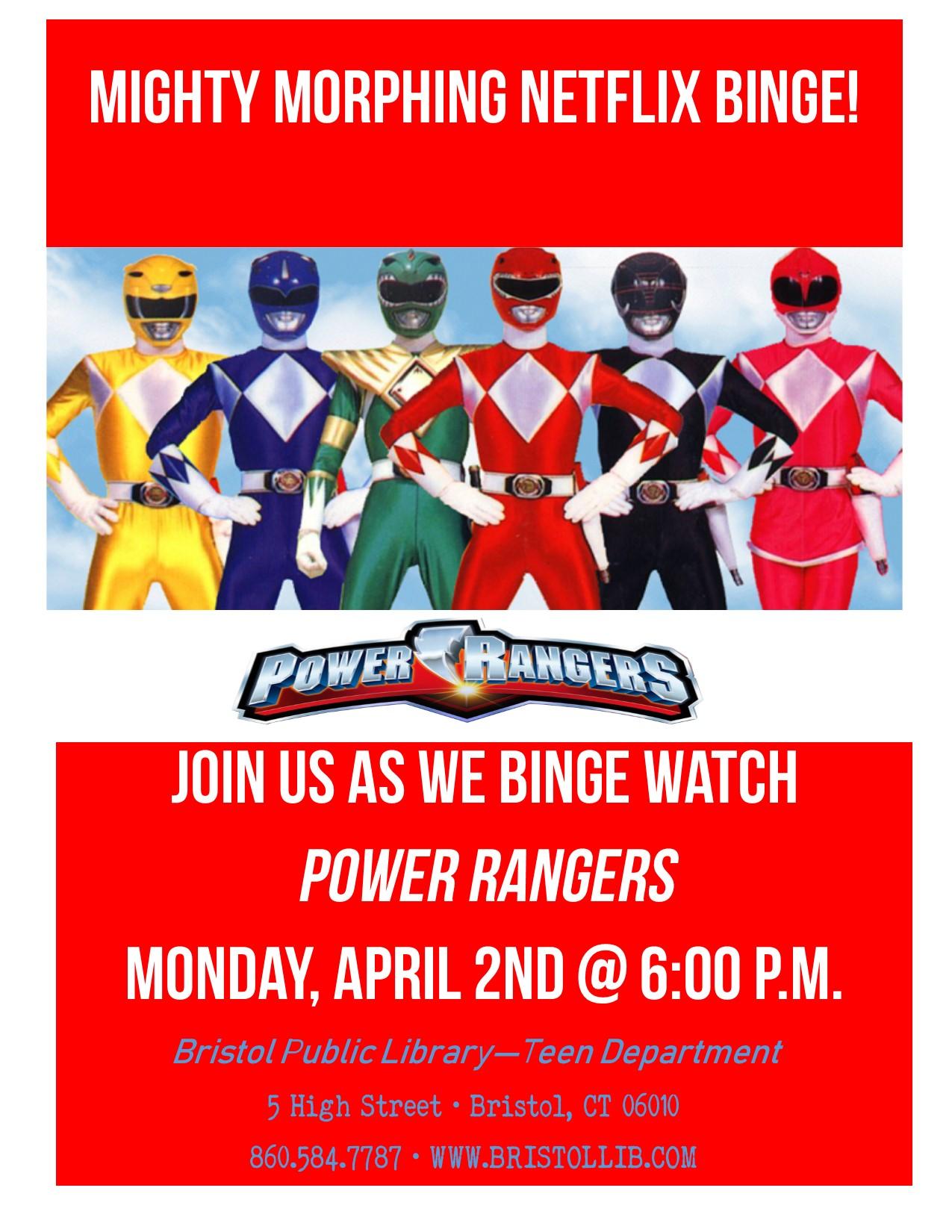 Netflix Binge: Power Rangers - Bristol Public Library