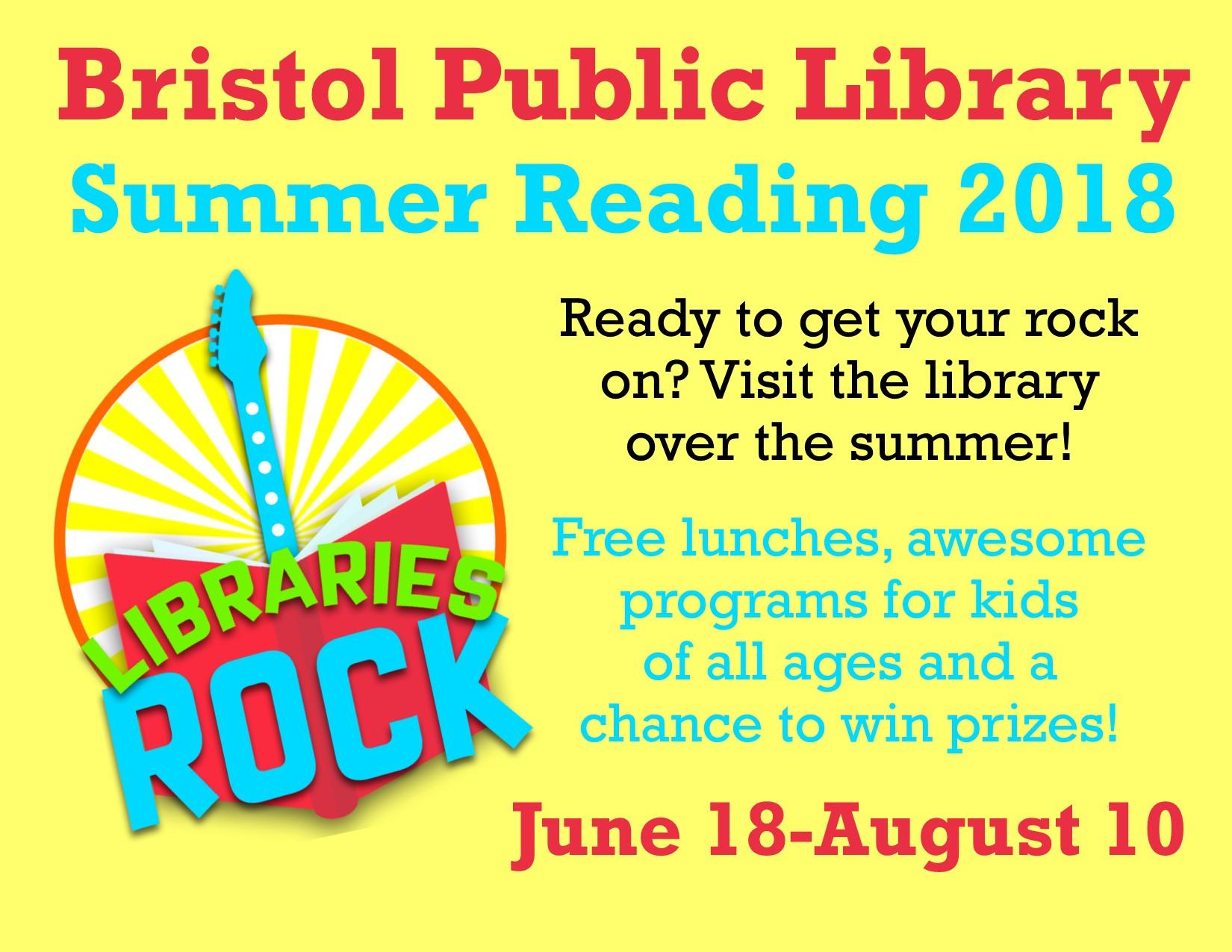 Summer Reading Program Begins! - Bristol Public Library
