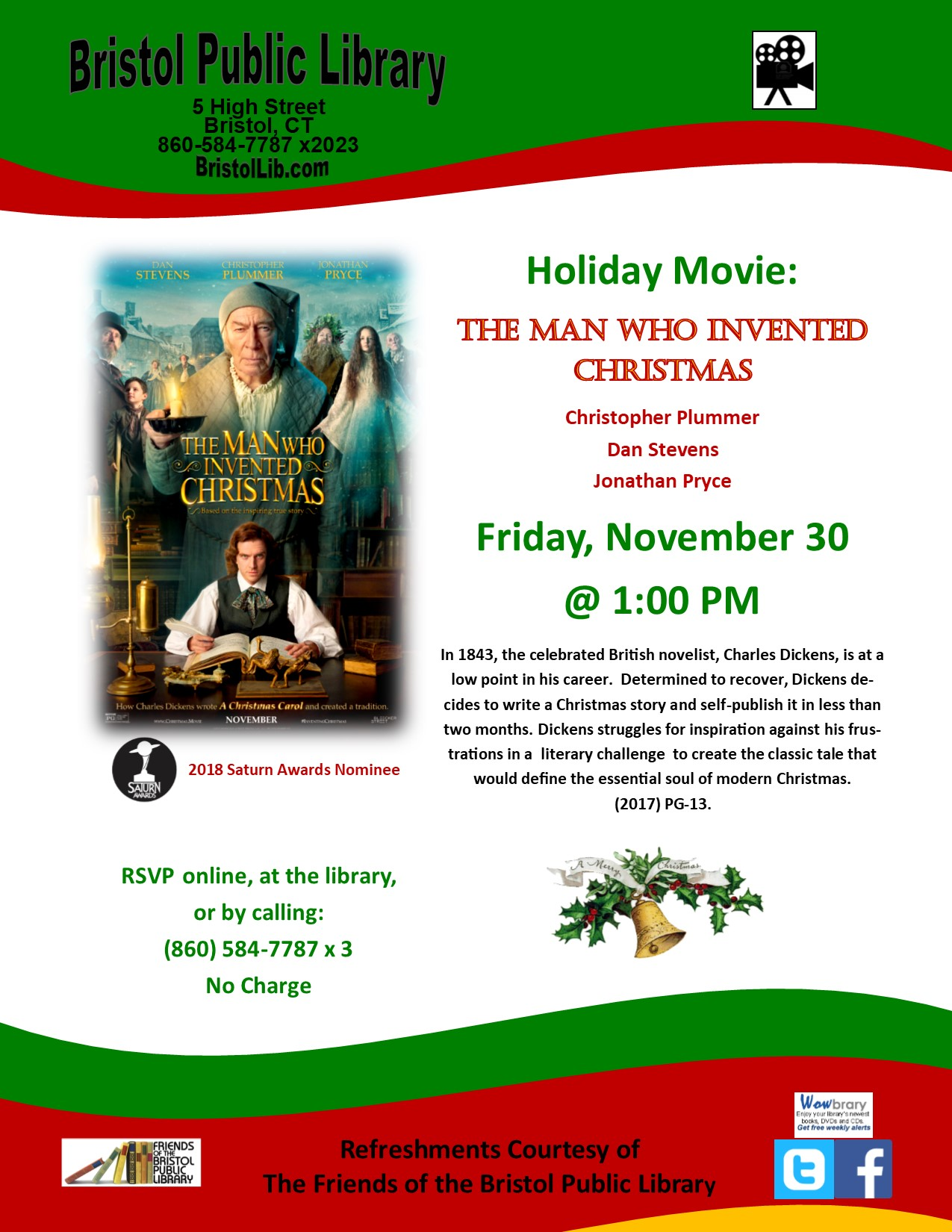 The Man Who Invented Christmas Poster.Holiday Movie The Man Who Invented Christmas Bristol