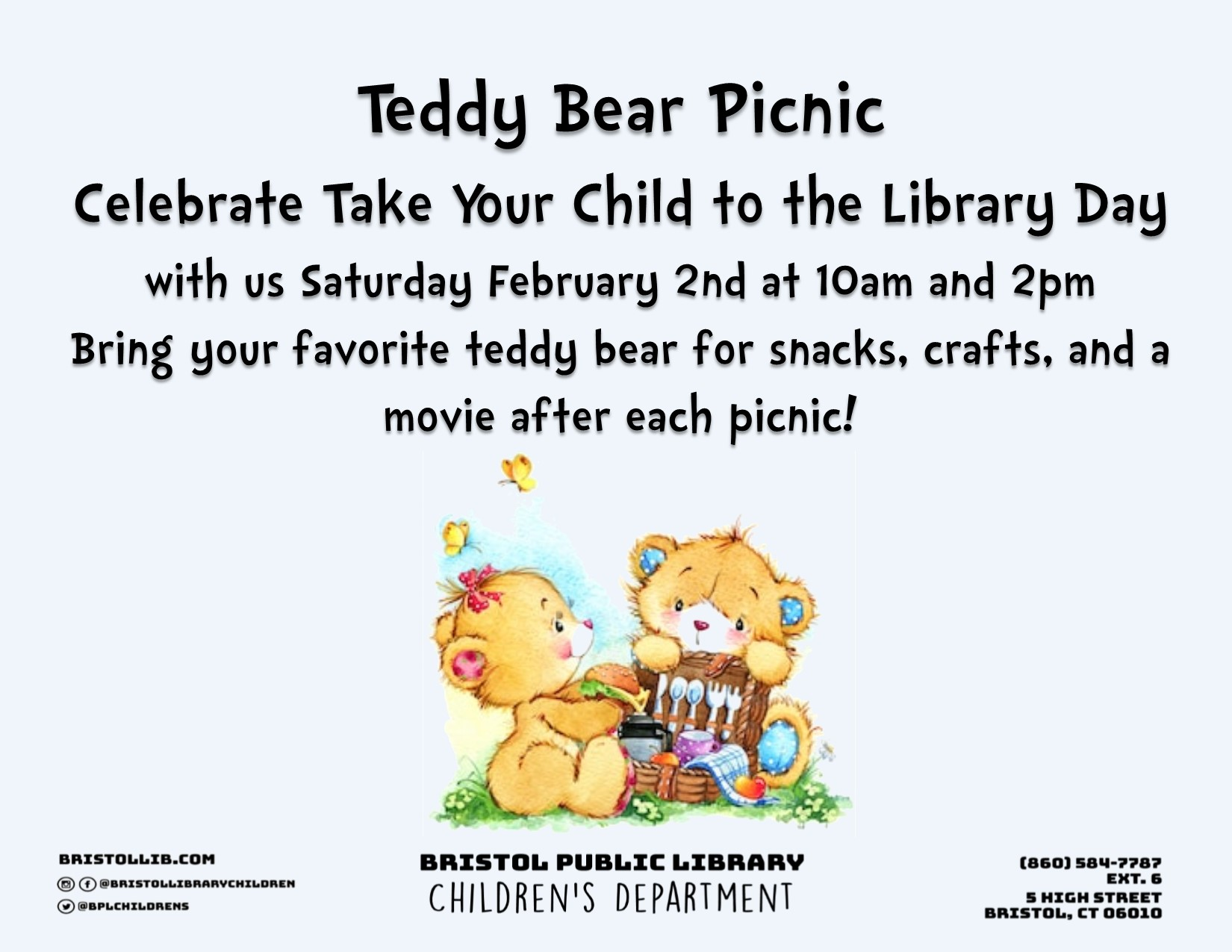 Take Your Child To The Library Day Teddy Bear Picnic