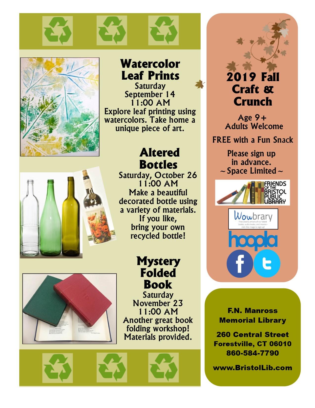 Watercolor Leaf Prints - Bristol Public Library